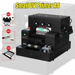 Automatic Small Uv Printer A4 Size Flatbed With 2500ml Ink For Bottle Phone Case