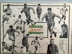 Vintage 1990 1990and039s Syracuse Orangemen Soccer Team Pictures And Schedule 24wx18h