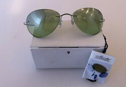 NEW Silhouette Sunglasses Green Lenses w Lightweight Titan Frame amp; Case 6060 $49.99