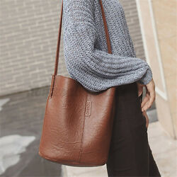 Women Shoulder Bag Tote Small Handbag Bucket Leather Messenger Crossbody Travel $12.79