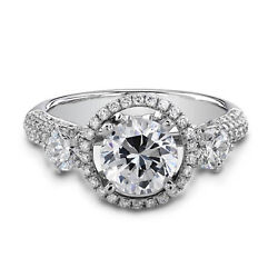 1.69 Ct Round Cut Natural Diamond 14k Solid White Gold Wedding Rings Size 4 5 6