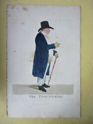 Vintage Engraving,the Towns-end,1804,robt.dighton,1752-1814,hand Colored