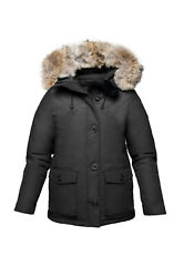 Arctic Bay Laval Down Parka Huge Coyoye Fur Made In Canada Msrp 945