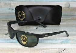 RAY BAN RB2027 W1847 Predator 2 Matte Black Crystal Green 62 mm Men#x27;s Sunglasses $92.95