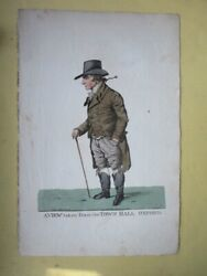 Vintage Engraving,view Town Hall,oxford,1807,robt.dighton,1752-1814,hand Colored