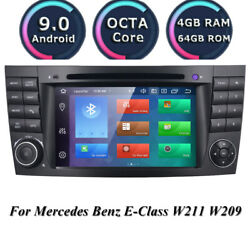 For Mercedes-benz E-w211 7 Ips Android 10.0 Car Stereo Dvd Gps Radio Octa-core