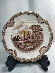 Castle In 1792 Jhonson Bros Kenilworth Plate Old Britain Made In England.