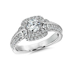 Brilliant Cut 1.30 Ct Natural Diamond 14k White Gold Engagement Rings Size 6 7 8