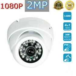 1080p Hd Dome Camera Cctv Home Security Cam Support 4 Video Format Night Vision