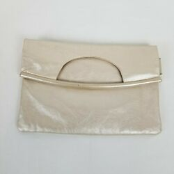 Hobo International Leather Foldover Clutch Champagne $24.00