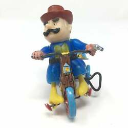 Vintage Marx Toys Western Cowboy Tricycle W Revolving Bell Japan 1960s