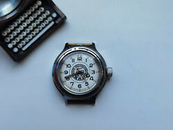 Rare Collectible Ussr Watch Vostok 1975 1990 Bam Railroad White Dial Serviced