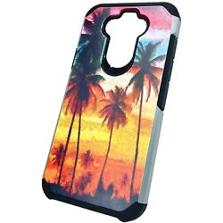 Hybrid Slim Case for LG K31 ARISTO 5 FORTUNE 3 Phone Cover WATERCOLOR PALM