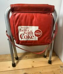 Vintage Coca Cola Things Go Better With Coke Folding Cooler Chair