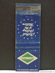 Illinois Central Railroad Matchbook Cover Ic Railway Route Map Rr Central Artery