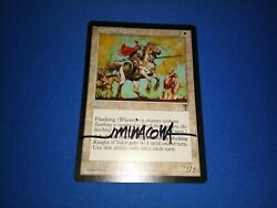 Mtg Magic Knight Of Valor Signed Artist Proof X1 Visions Jeff Miracola