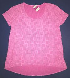 Fresh Produce Small Flamingo Pink Down Under Luna Scoop Top 59 Nwt New S Tpp