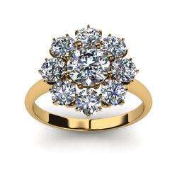 14k Yellow Gold Brilliant Cut 1.20 Ct Natural Diamond Engagement Rings Size 6 7