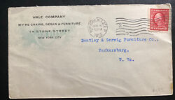 1914 New York Usa Advertising Cover To Parkersburg Wv Hale Company