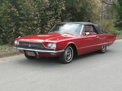 1966 Ford Thunderbird Candy Red Convertible, 24 X 36 Inch Poster,