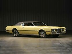 1972 Ford Thunderbird Yellow, 24 X 36 Inch Poster,