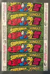 1968 Aandbc Superman In The Jungle Wrapper Beautiful Color Excellent Condition