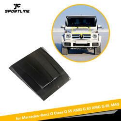 For Benz G500 G550 G55 G63 G65 04-18 Front Hood Air Intake Cover Carbon Fiber
