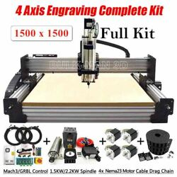 4 Axis Engraving Complete Kit Router Full With Tingle Tension System 1500x1500mm
