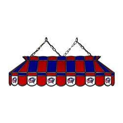 Nhl Columbus Blue Jackets Stained Glass 40 Pool Table Light-new-made In U.s.a.