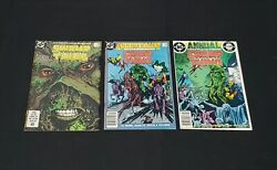 Swamp Thing 49, 50 And Annual 2 Comic Book Lot 1st Justice League Dark