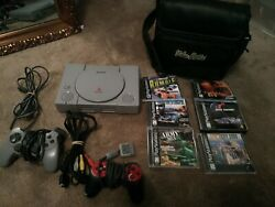 Sony Playstation 1 Comes With Games And A Carry Bag And Two Controllers