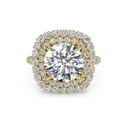 14k Yellow Gold Natural Diamond Round Cut 1.20 Ct Engagement Rings Size 6 7 8