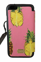 Dolce And Gabbana Phone Case Cover Pink Pineapple Print Theme Iphone 7 Rrp 550