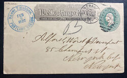 1882 San Francisco Ca Usa Wells Fargo Co Stationery Cover To New York