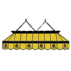 Ncaa Iowa Hawkeyes Stained Glass 40 Pool Table Light - New - Made In U.s.a.