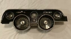 1968 Mustang Black Instrument Cluster And Bezel With Clock