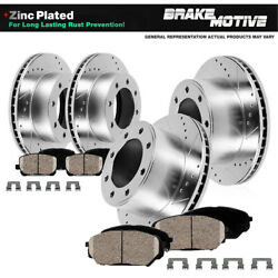 For 2010 Ford F350 Sd Srw Front And Rear Premium Brake Rotors And Ceramic Pads