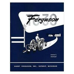 Rep091 Owners Manual Mf To30 Fits Massey Ferguson