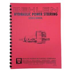 Rep2652 Behlen Power Steering Service And Parts Manual - Fits John Deere