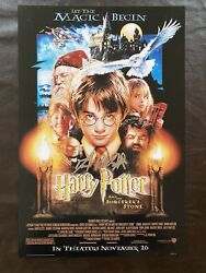 Daniel Radcliffe Signed Harry Potter Sorcerers Stone Movie Poster 12x18 Print