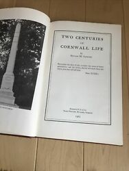 Two Centuries Of Cornwall Life Vermont By Sanford Hc 1962