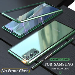 For Samsung Galaxy Note 20 20 Ultra Metal Magnetic Tempered Glass Case Cover $11.99