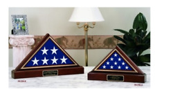 American Flag With Pedestal Memorial Burial Display Case Shadow Box
