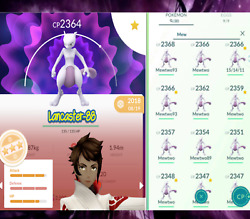 Pokemon TRADE Mewtwo 2300 CP Safe Cheap amp; Fast ✅ ✅ ✅ Registered