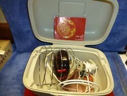 Vintage Ge Sunlamp Sun Lamp With Case And Infra-red 250 Watt Ruby Light