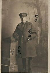 Ww1 Soldier British Cavalry 15th Hussars In Greatcoat And Gloves Bristol Feb 1916