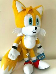 Jumbo Sonic The Hedgehog Tails Plush Toy 17 Inches Soft Toy. New