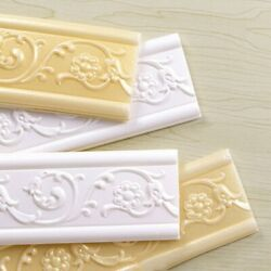 Home 3D Self adhesive Decor Wall Molding Skirting Line Mural Border Stickers