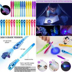 Igeekid Invisible Ink Pen With Purple Light 2 Style 2020 Upgraded Spy Pen Dipear
