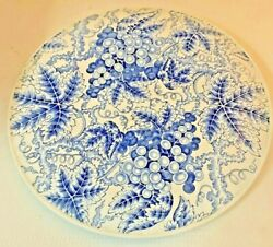 Cake Plate Spode Grapes Blue Room Collection White Blue